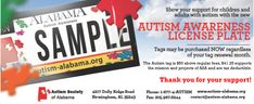 Autism Awareness License Plate NOW Available