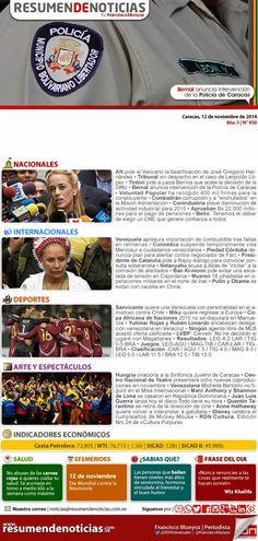 Resumen de Noticias: Miércoles | 12/11/2014