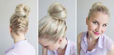 bun with a french braid