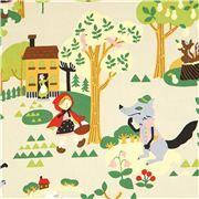 fairy tale oxford fabric Little Red Riding Hood Kokka