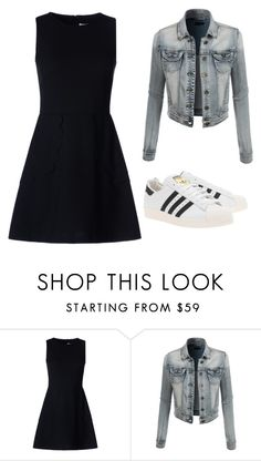"""""""# Cool"""" by acreation ❤ liked on Polyvore featuring RED Valentino, LE3NO and adidas Originals"""
