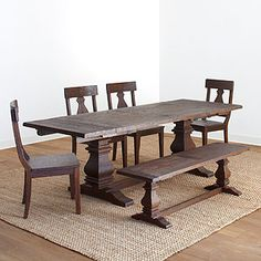 I like this table...very rustic.