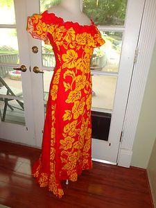 beautiful red/yellow Hawaiian muumuu