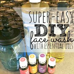 Tired of breakouts? Try this super easy diy face wash with essential oils!