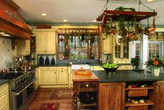 Country Kitchen Designs | Country kitchen with marble countertops