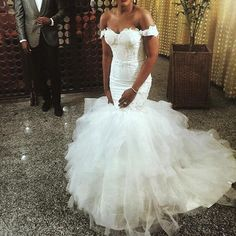 Off the Shoulder Mermaid Sweetheart Birdes Long Wedding Dresses, BG51576