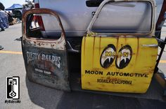 custom paint, hand painted doors, hot rod patina