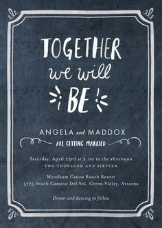 Chalked Together - Signature White Wedding Invitations