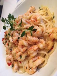 Heta räkor – Alla goda ting Pasta Salad, Entrees, Chili, Shrimp, Appetizers, Snacks, Meat, Chicken, Ethnic Recipes