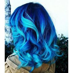Scene Hair ❤ liked on Polyvore featuring beauty products, haircare, hair styling tools, hair, hairstyles, blue, cabelo, dyed hair and filler