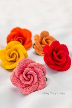 Crochet Viang Ping Rose by Happy Patty Crochet