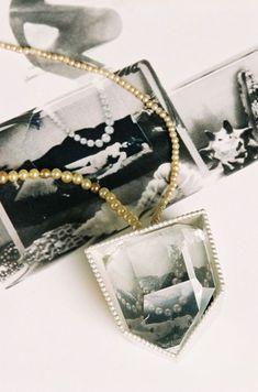 Eva Tesarik Necklace: Time of pearls, 2006 Silver, foto, crystal rock, old pearls 32 cm