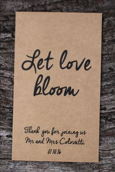 Our ecomony range of custom printed seed packets are great for wedding favours, promotional seed packets and other gifts. Seed Wedding Favors, Seed Packets, Seeds, Printed, Diy, Gifts, Presents, Bricolage, Prints