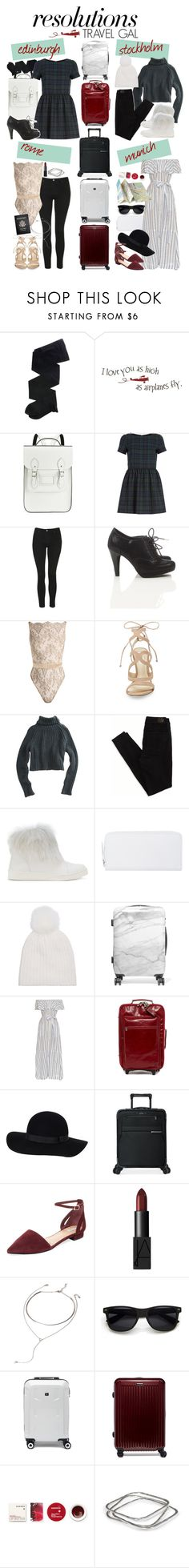 """#PolyPresents: New Year's Resolutions"" by veterization ❤ liked on Polyvore featuring Gerbe, The Cambridge Satchel Company, River Island, Topshop, Wallis, Coco de Mer, Steve Madden, T By Alexander Wang, American Eagle Outfitters and Pedro García"