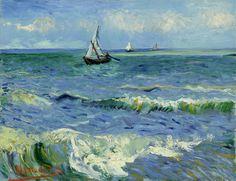 Vincent van Gogh (1853-1890), The Sea at Les Saintes-Maries-de-la-Mer, 1888. Van Gogh Museum, Amsterdam (Vincent van Gogh Foundation) Extra info: http://www.vangoghmuseum.nl/vgm/index.jsp?page=2679&collection=1282&lang=en