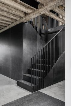 McLaren Excell is an ambitious and energetic design-led architecture practice based in Marylebone, Central London. Stairs Architecture, Victorian Architecture, Architecture Details, Interior Architecture, Staircase Railings, Staircase Design, Stairways, Black Stairs, Steel Stairs