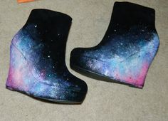 Nebula women's wedges or booties  made to order  by ShelbyBuckets, $150.00