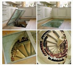 The Wine Cellar that requires no extra space or planning permission! http://www.houzz.com/spiral-wine-cellar