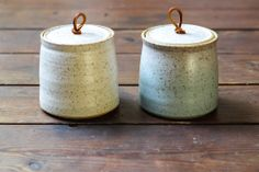 Non-clay handles on thrown jars. Love it!