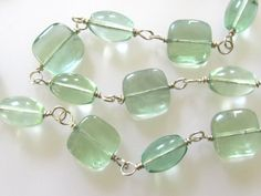 Shimmering Watercolor Necklace : Aqua Teal Mint Jewelry, Fluorite Jewelry,  Etsy - 38.00
