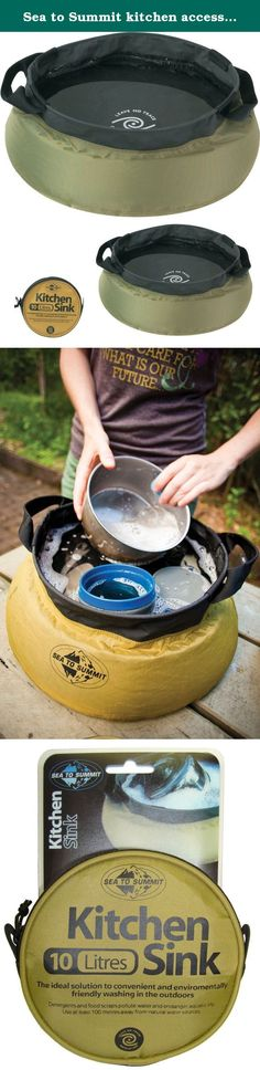 Sea to Summit kitchen accessories Kitchen foldup bowl. At last, a portable camp sink that really works! Sea to Summit sinks are great for collection and carrying of water for purification, cooking, washing dishes or personal bathing. They're ideal for backpacking or group camping and they make a great gift for the outdoors person who has everything. Now available in a compact 5 Liter size and for large groups a 20 Liter size.