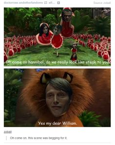 I don't know how many of you watch Hannibal, but this is pretty funny - Imgur