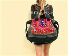 Hand Made bag/ Embroidery Tote Bag/Obliquely across the bag/Casual bags/Fashion bag/Dual-purpose bag/Shop tote bag/Women bag/Canvas bag by littlePurser on Etsy https://www.etsy.com/listing/127140915/hand-made-bag-embroidery-tote