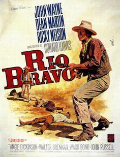 John Wayne - Affiche Rio Bravo - 1959