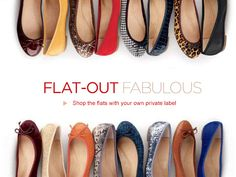 Shop fabulous flats with your own private logo at CHIKO Shoes