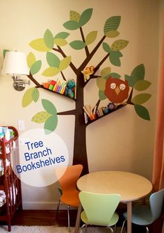 Super cute!  Also, a great antidote to all the drab, grey, overly-design-y nursery/playrooms I've been seeing on Apartment Therapy.