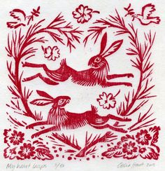 linocuts and woodcuts my heart leaps celia hart