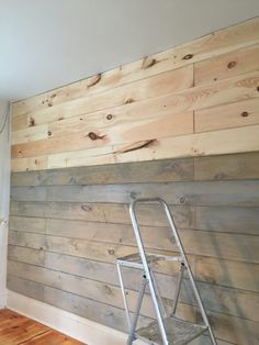 Pallet wall diy wooden plank wall wood plank walls staining a plank wall with milk paint . Ship Lap Walls, Milk Paint, Wood Planks, Wood Plank Ceiling, Wood Ceilings, Beautiful Bedrooms, Diy Wall, Home Projects, Pallet Projects