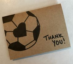 Quick and easy soccer coach card and gift. Just add gift card! Soccer Crafts, Soccer Decor, Soccer Birthday Parties, Birthday Cards, Soccer Party, Boy Birthday, Birthday Ideas, Coach Appreciation Gifts, Soccer Banquet