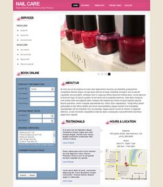 This WordPress theme for nail salons comes with a full online appointment…