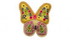 Kussen Vlinder van Vilt geborduurd - kussens, poefen, zitkussen, krukjes, plaids - kopen bij De Kussencompany!
