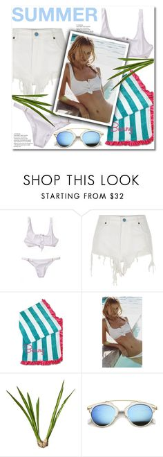 """Shopaa"" by aida-nurkovic ❤ liked on Polyvore featuring Beach Bunny, River Island, OKA and ZeroUV"