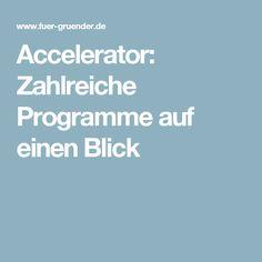 Accelerator: Zahlreiche Programme auf einen Blick