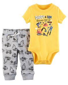 4ecdd568c Baby Boy 2-Piece Bodysuit Pant Set | Carters.com #toddleroutfits Carters  Baby