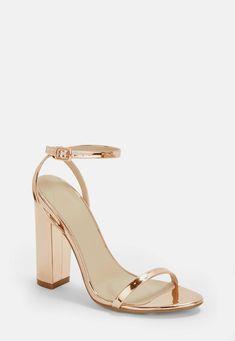14c0e0ab9b33 Rose Gold Block Heel Sandals Rose Gold Block Heels