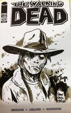 The Walking Dead sketch cover by Francesco Francavilla