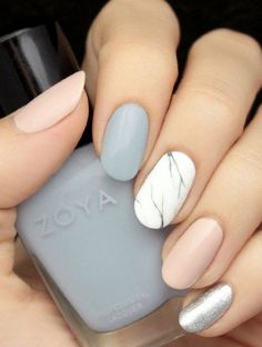 BEAUTIFUL PASTEL COLORS MARBLE NAILS FOR WINTER 2016 | Fashion Te Nail Design, Nail Art, Nail Salon, Irvine, Newport Beach