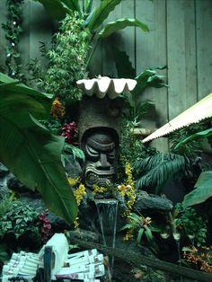 Tropical Backyard, Backyard Bar, Backyard Paradise, Ponds Backyard, Tiki Art, Tiki Tiki, Tiki Head, Tiki Bar Decor, Tiki Totem