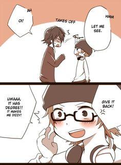 Awww Misaki trying to be Saru! xD