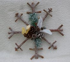 wedding decs 6 - finished rustic winter snowflakes