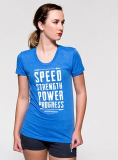 Again Faster CrossFit T-Shirt Speed Strength Barbell Women's