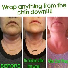 My mom would love this! ItWorks Wraps for the face/neck