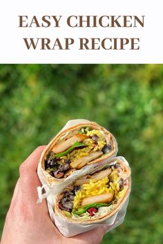 Easy chicken recipe, check this out! Chicken Wrap Recipes Easy, Simple Recipes, Easy Healthy Recipes, Diet Recipes, Healthy Food, Snack Recipes, Cooking Recipes, Easy Family Meals, Family Recipes