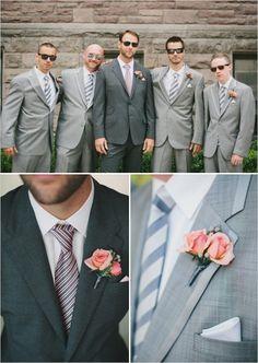 gray groomsmen looks