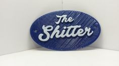 The Shitter Humorous Toilet Bathroom Door Sign - Vintage Antique Distressed Shabby Chic Style Loo Water Closet Home Decor Faux Cast Iron