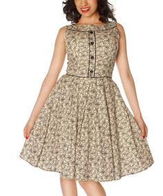 Another great find on #zulily! Cream Floral Alexandra Dress #zulilyfinds